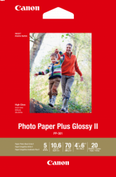 Canon 20 Sheets 265 GSM Photo Paper Plus Glos. Pp3014X6-20