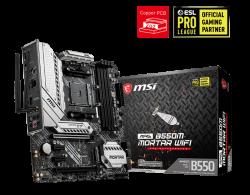 MSI MAG B550M MORTAR WIFI Motherboard B550 Micro-ATX: AM4 socket For 3rd Gen AMD Ryzen processors (MAG B550M MORTAR WIFI)