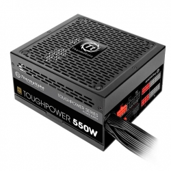 Thermaltake ATX PSU: 550W Toughpower 80+ Gold Semi-Modular, 2x PCI-E 6+2Pin, 8x SATA (PS-TPD-0550MPCGAU-1)