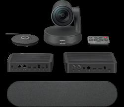 Logitech Rally Ultra Hd Conference System Kit Camera (1) Hub(2) Speaker(1) Mic Pod(1) 960-001219