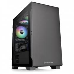 Thermaltake Mini-Tower Case:S100 Tempered Glass Black 1x 120mm Fan, 1x USB 3.0, 2x USB 2.0, Supports: mATX/mini-ITX (CA-1Q9-00S1WN-00)