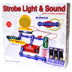Snap Circuits Mini Kit Strobe Light & Sound Scp-14