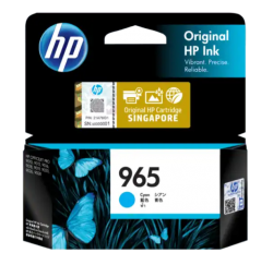 HP 965 Cyan Original Ink Cartridge 3JA77AA