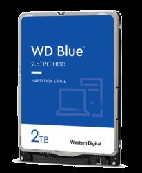 "WD BLUE INTERNAL 2.5"" MOBILE SATA DRIVE, 2TB, 6GB/S, 5400RPM"