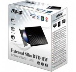 Asus Sdrw-08d2s-u Lite Portable External Slim Usb 8x Dvd Writer, Windows/ Mac
