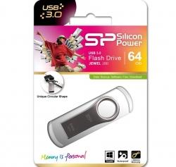 Silicon Power 64gb Jewel J80 Usb 3.0 Flash Drive Titanium Sp064gbuf3j80v1t