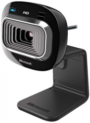 Microsoft LifeCam HD-3000 USB Webcam for Windows T3H-00014, Cinematic 16:9 Widescreen HD