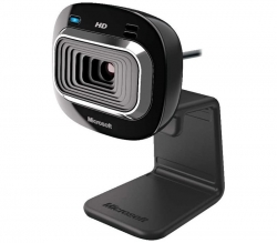 Microsoft LifeCam HD-3000 USB Webcam T4H-00004, 16:9 Widescreen HD, Noise Cancelling Mic