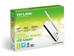 Tp-Link 150M Wireless N Lite High Gain Usb Adapter, Atheros Align 1-Stream Chipset, Signal Gain