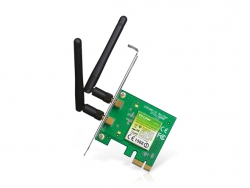 Tp-Link 300Mbps Wireless N Pci Express Adapter, Atheros, 2T2R, 2.4Ghz, 802.11N/ G/ B, With 2 Detachable