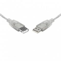 Teamforce Usb 2.0 Extension A-a M-f Transparent Metal Sheath Cable 2m Uc-2002aae