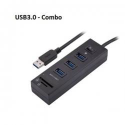 Ezcool Usb3.0 Hub 3 Port With Switch + Card Reader Usbinthub3pswu3cr