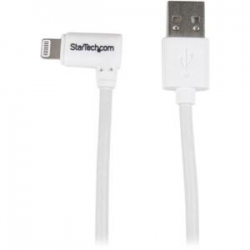 Startech Angled Lightning To Usb Cable - 1 M (3 Ft.) White Usblt1mwr