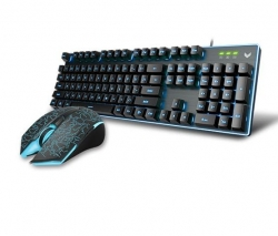 Rapoo V100S Backlit Gaming Keyboard & Optical Gaming Mouse Competitive Gaming Combo V100S