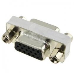 Generic 15 Pin Hd Svga D-sub Adapter (f)to(f)female Ad Vga F-f