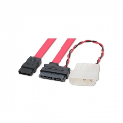 Wicked Wired 15cm 15pin Sata Power & 80cm Sata Data Cable Ww-p-pcsatapwr