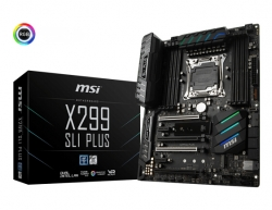 Msi X299 Sli Plus Lga 2066 Intel X299 Sata 6gb/s Usb 3.1 Atx Motherboard X299 Sli Plus