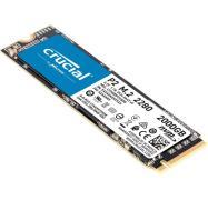 Crucial 2TB P2 NVMe PCIe M.2 SSD, 3D NAND, 2400R/1900W MB/s CT2000P2SSD8