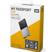 Western Digital WD 1TB My Passport SSD Portable USB Type-C 3.1 Black-Gray WDBKVX0010PSL-WESN