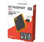 Western Digital 2TB My Passport GO Portable SSD WDBMCG0020BYT-WESN, USB3.0, Up to 400 MB/s, Built-in Cable