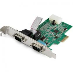 Startech 2-Port PCI Express RS232 Serial Adapter Card PEX2S953 - 16950 UART - 256-byte FIFO Cache - ASIX AX99100 - Full Profile Bracket - Replacement for PEX2S952