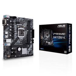 ASUS PRIME H410M-K mATX Motherboard 10th Gen LGA1200 DDR4 2933MHz DVI D-Sub 2xPCIe 4xSATA (PRIME H410M-K)