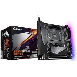 Gigabyte B550 I AORUS PRO AX AMD Ryzen M-ITX Motherboard 2xDDR4 4xSATA 2xM.2 LAN RAID WIFI6 BT 1xPCIEx16 DP HDMI 4xUSB3.2 USB-C (GA-B550-I-AORUS-PRO-AX)