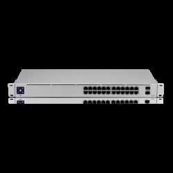 Ubiquiti UniFi 24 port Managed Gigabit Switch - 24x Gigabit Ethernet Ports, with 2xSFP - Touch Display - Fanless - GEN2 (USW-24-AU)