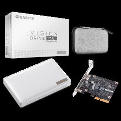 Gigabyte Vision Drive 1TB External SSD Upgrade Kit, USB-C, Sequential Read/Write ~2000MB/s, Shock Resistant MIL-STD 516.6 GP-VSD1TB KIT