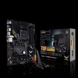ASUS AMD B550 TUF GAMING B550-PLUS (WI-FI) ATX MB, PCIe 4.0, Dual M.2, 10 DrMOS Power Stages, 2.5Gb LAN, HDMI, DP, Wi-Fi 6 (TUF GAMING B550-PLUS (WI-FI))