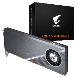 Gigabyte AORUS Gen4 AIC SSD 2TB - PCI-e 4.0, 4x 500GB SSD, Seq. Read ~15,000 MB/s, Seq. Write ~9,500 MB/s,(LS) (GP-ASACNE6200TTTDA)
