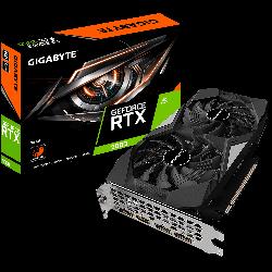 Gigabyte nVidia GeForce RTX 2060 D6 6GB v2.0 Video Card, PCI-E 3.0, 1680 MHz Core Clock, GV-N2060D6-6GD