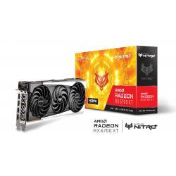 SAPPHIRE NITRO+ AMD RADEON RX 6700 XT GAMING OC 12GB GDDR6 HDMI / TRIPLE DP, Boost Clock: Up to 2622 MHz, Memory: 12GB/192 bit DDR6. 16 Gbps Effective (11306-01-20G)