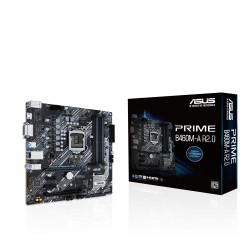 ASUS PRIME B460M-A R2.0 mATX Motherboard Intel 10th/11th Gen LGA1200, PCIe 4.0, 8 Power Stages, HDMI, DVI, SATA 6 Gbps, 1Gb Ethernet