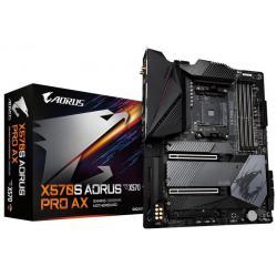 Gigabyte X570S AORUS PRO AX AMD Ryzen AM4 ATX Motherboard, 4x DDR4 ~128GB, 3x PCI-E x16, 3x M.2, 6x SATA3, 1x USB-C, 7x USB 3.2, 4x USB 2.0