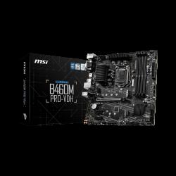 MSI B460M PRO-VDH Intel mATX Motherboard, 4x DDR4 ~128GB, 1x PCI-E x16, 2x PCI-E x1, 4x SATAIII, 2x M.2, 4x USB 3.2, 2x USB 2.0