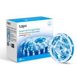 TP-Link Tapo L900-5 Smart Wi-Fi Light Strip, Flexible Length, 3M Adhesive, Energy Saving, Voice Control, No Hub Required