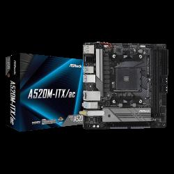 AsRock Motherboard, AMD A520; 2 DDR4 DIMM; PCIe 3.0 x16; 4 SATA3, Ultra M.2(Gen3 x4 & SATA3); 6 USB 3.2 Gen1 (2 Front, 3 Rear Type-A, 1 Rear Type-C); DisplayPort, HDMI (90-MXBDG0-A0UAYZ)