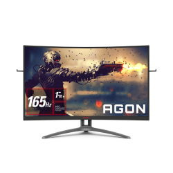 AOC 31.5IN VA CURVED 1500R FHD 1MS 165HZ FREE-SYNC PREMIUM HDR READY LIGHT FX FLICKER FREE LOW BLUE LIGHT AG323FCXE