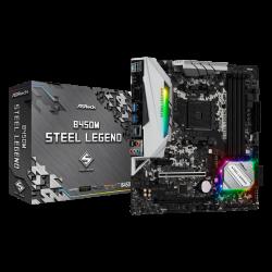 AsRock B450M Steel Legend MotherBoard CPU: AMD AM4 Socket; Chipset:AMD Promontory B450; Memory: Dual Channel DDR4, 4 x DDR4 DIMM Slots (B450M-STEEL-LEGEND)