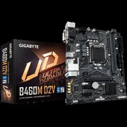 Gigabyte INTEL,B460 Ultra Durable MB w GIGABYTE 8118 Gaming LAN, PCIe Gen3 x4 M.2, Anti-Sulfur Resistor, Smart Fan 5 (B460M D2V)