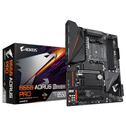 Gigabyte AMD B550 AORUS Motherboard with True 12+2 Phases Digital VRM, Fins-Array Heatsink, Direct-Touch Heatpipe, Dual PCIe 4.0/3.0 x4 M.2 with Thermal Guards, 2.5GbE LAN (M/B B550 AORUS PRO)