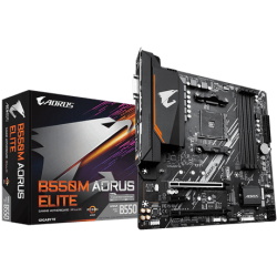 Gigabyte AMD B550 Ultra Durable Motherboard with Pure Digital VRM Solution, PCIe 4.0 x16 Slot, Dual PCIe 4.0/3.0 M.2 Connectors, GIGABYTE 8118 Gaming LAN (M/B B550M AORUS ELITE 1.0)