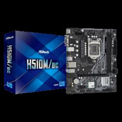 ASRock H510M/AC MB H510 Micro-ATX: Socket 1200 For Intel 11th/10th Gen. Processors 2 x DDR4 DIMM Slots,