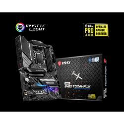 MSI ATX Motherboard: B460 Socket 1200 For 10th Gen Intel processors 4x DDR4, 6x SATA 6bps, 2x M.2, USB3.2 (MAG B460 TOMAHAWK)