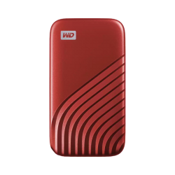 WD My Passport SSD, 2TB, Red color, USB 3.2 Gen-2, Type C & Type A compatible, 1050MB/s (Read) and 1000MB/s (Write) WDBAGF0020BRD-WESN