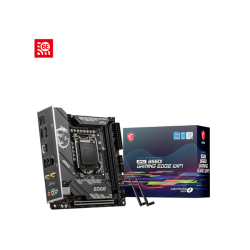 MSI MPG B560I GAMING EDGE WIFI Motherboard Supports 11th and 10th Gen Intel Core / Pentium Celeron processors