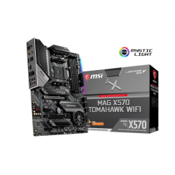 MSI Mag X570 Tomahawk Wifi Motherboard Military style with Pre-installed IO shielding, tuned for better performance by Core Boost