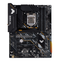 Asus TUF GAMING B560-PLUS WIFI INTEL ATX Motherboard, 8+1 DrMOS Power stages , PCIe 4.0 support, DDR4 5000 (OC)