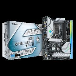 Asrock Z590 STEEL LEGEND WIFI 6E Motherboard Supports 10th Gen Intel Core Processors and 11th Gen Intel Core Processors
